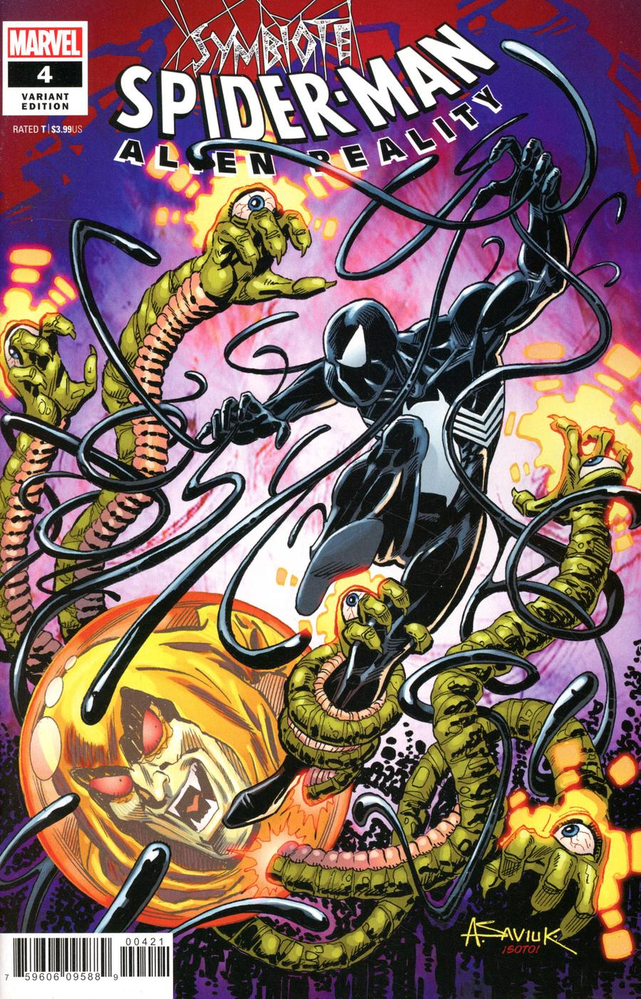 Symbiote Spider-Man Alien Reality #4 Cover D Incentive Alex Saviuk Variant Cover