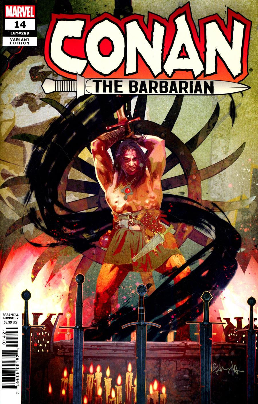 Conan The Barbarian Vol 4 #14 Cover B Incentive Tommy Lee Edwards Variant Cover