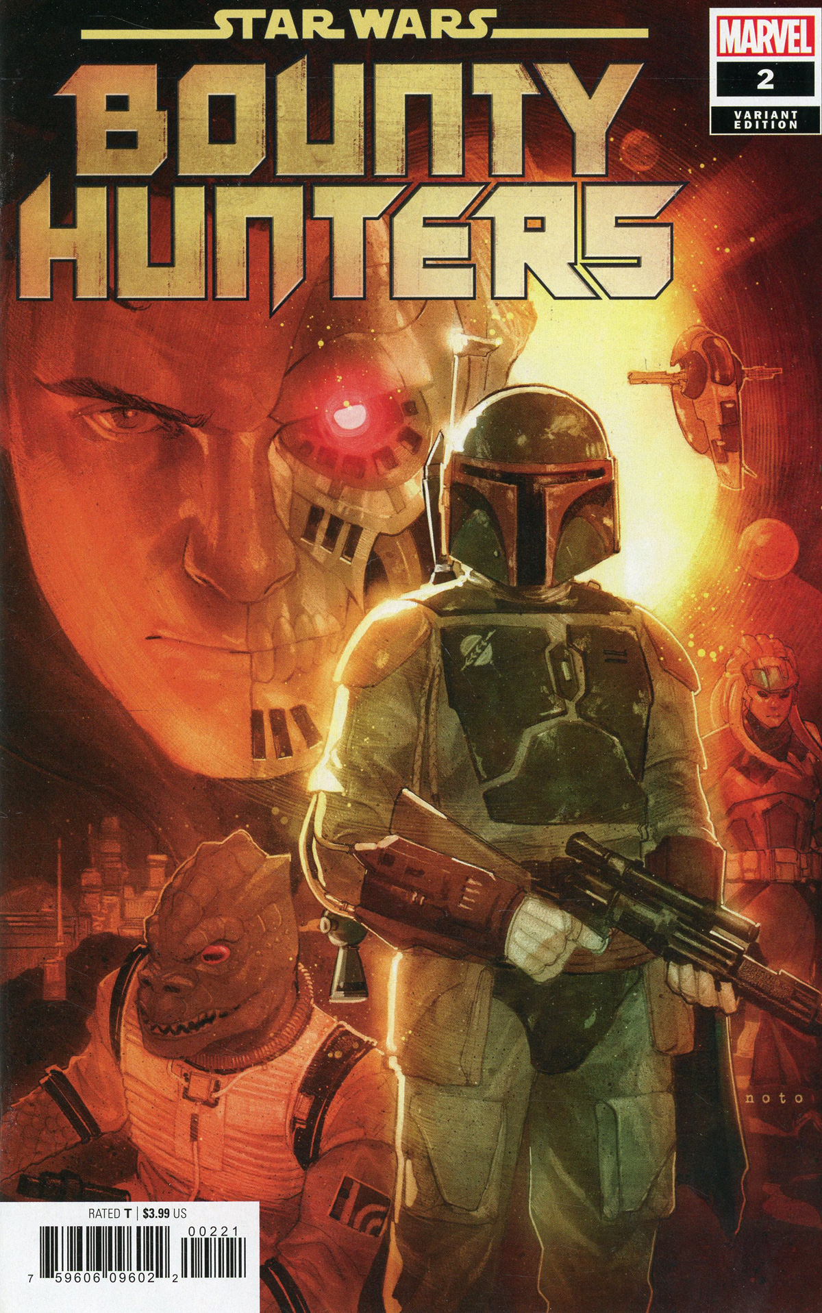 Star Wars Bounty Hunters #2 Cover C Incentive Phil Noto Variant Cover