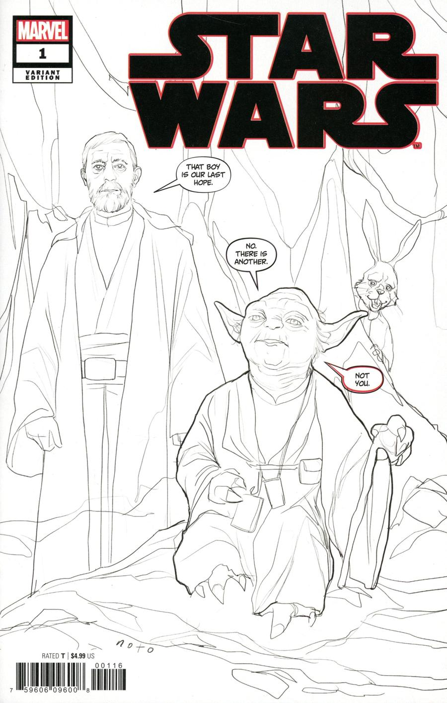 Star Wars Vol 5 #1 Cover K Incentive Phil Noto Party Sketch Cover