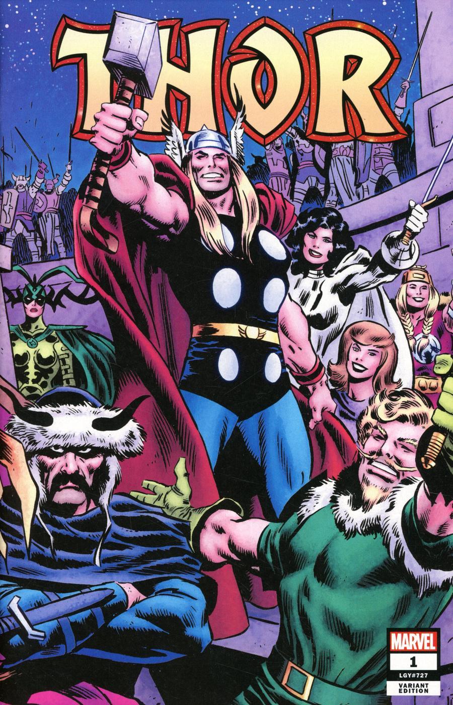 Thor Vol 6 #1 Cover T Incentive John Buscema Wraparound Variant Cover