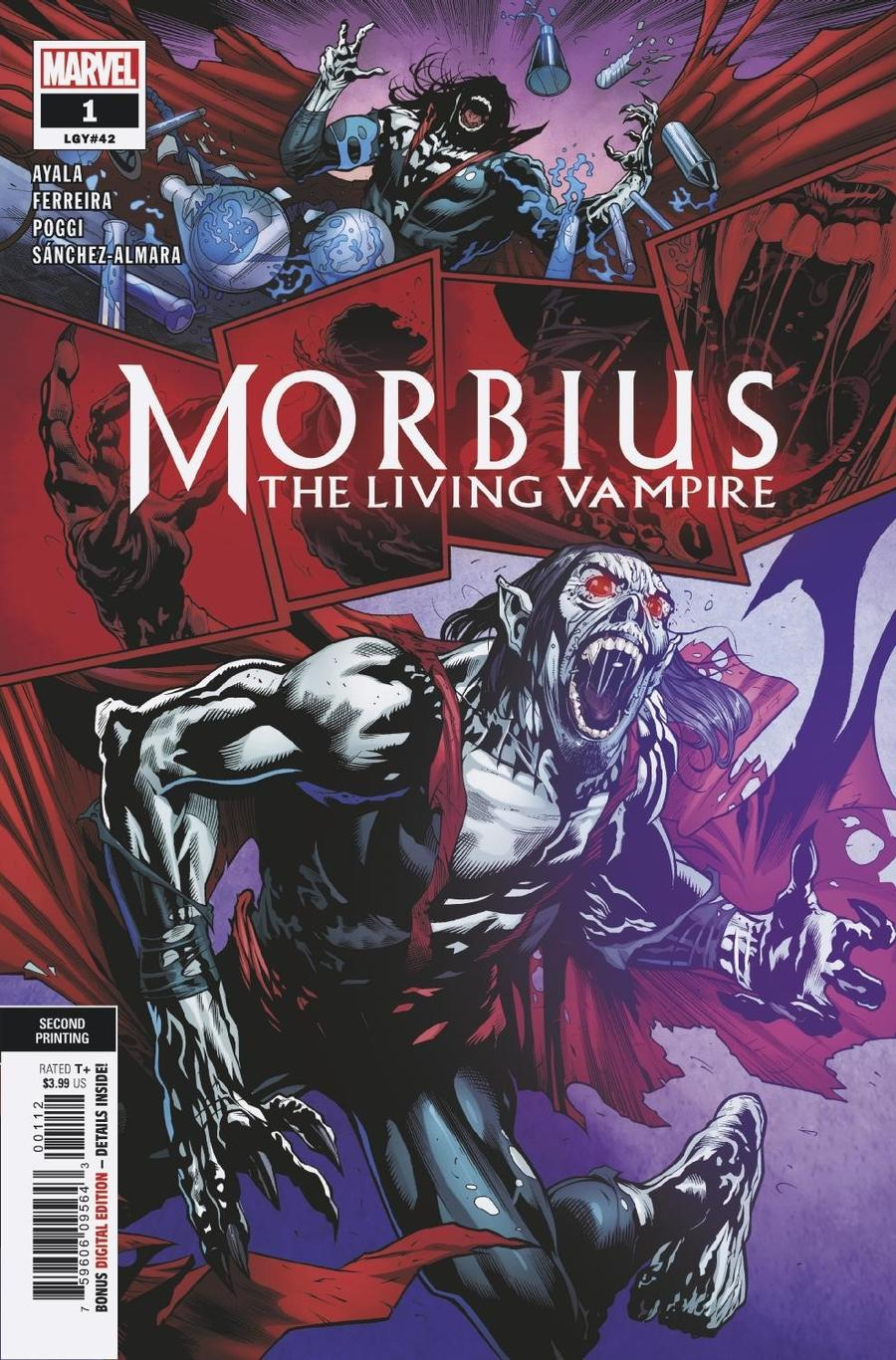 Morbius #1 Cover F 2nd Ptg Variant Marcelo Ferreira Cover