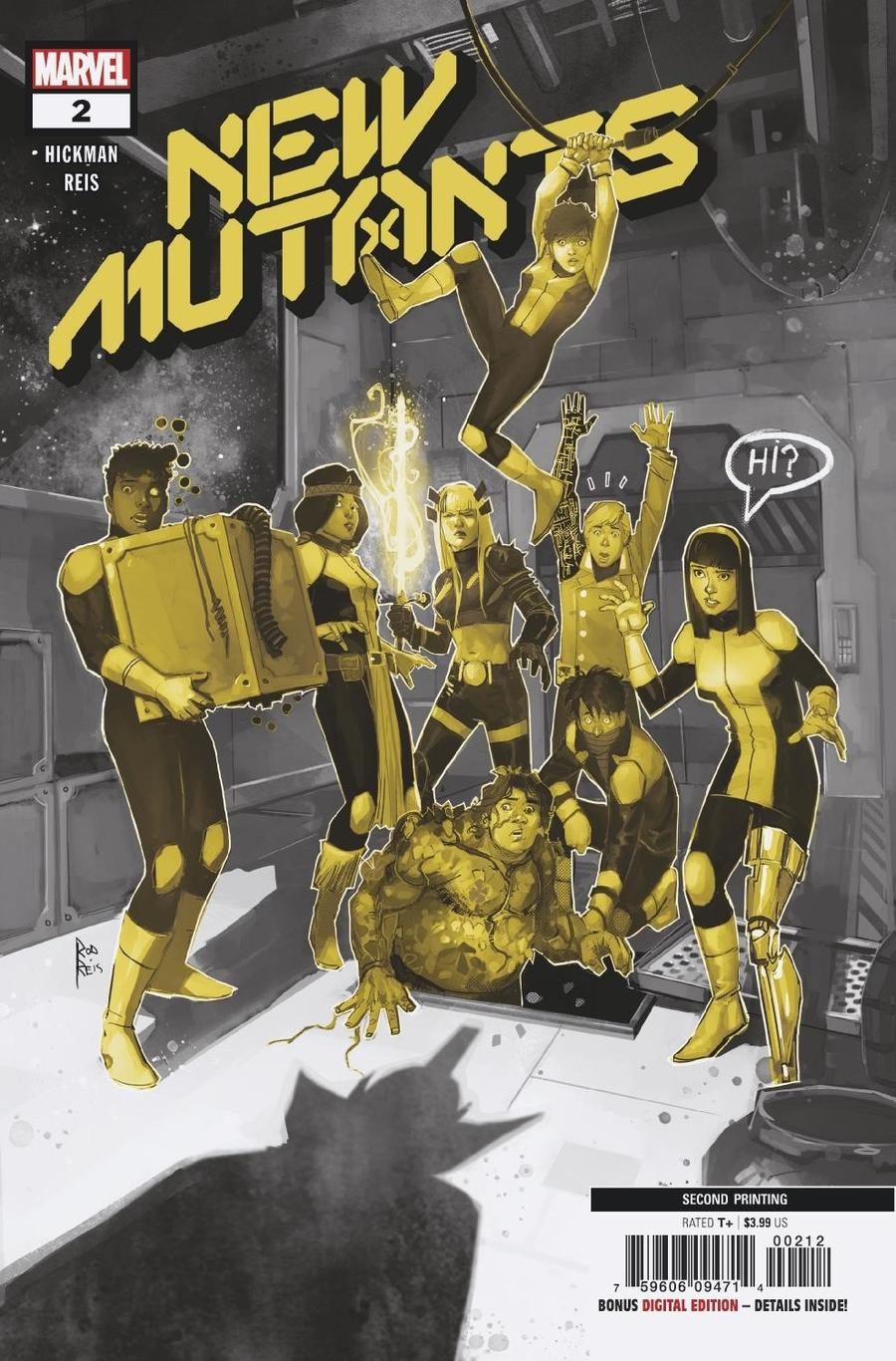 New Mutants Vol 4 #2 Cover C 2nd Ptg Variant Rod Reis Cover (Dawn of X Tie-In)