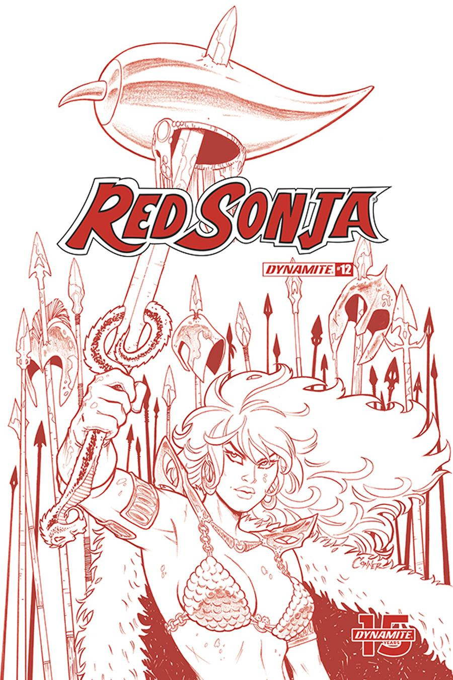 Red Sonja Vol 8 #12 Cover K Incentive Amanda Conner Tint Dressed Cover