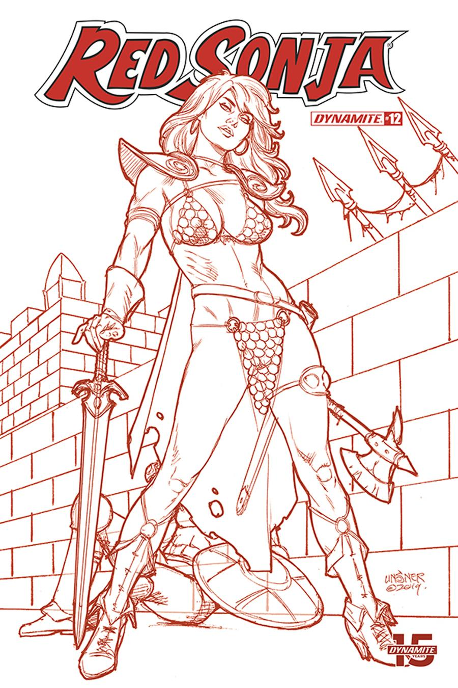Red Sonja Vol 8 #12 Cover L Incentive Joseph Michael Linsner Tint Dressed Cover