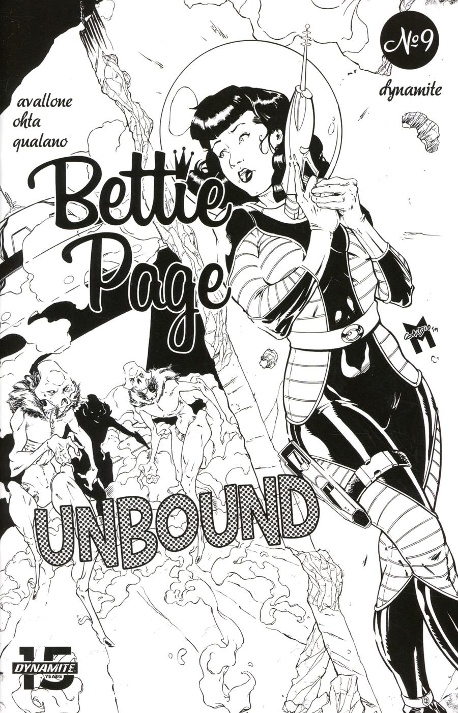 Bettie Page Unbound #9 Cover G Incentive Matt Gaudio Black & White Virgin Cover