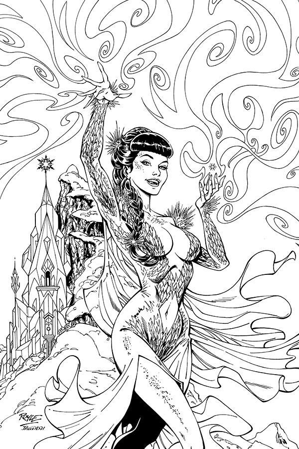 Bettie Page Unbound #9 Cover K Incentive John Royle Virgin Black & White Cover