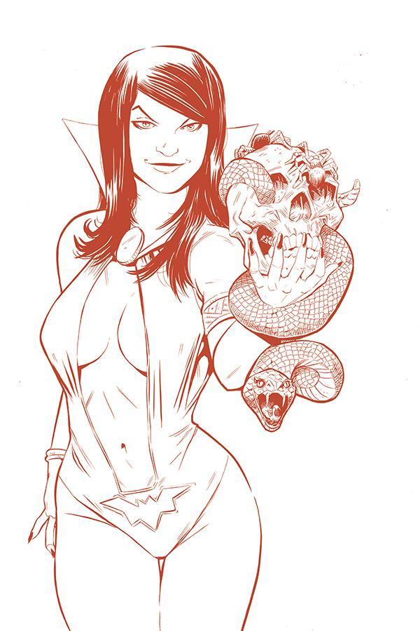 Vampirella Red Sonja #5 Cover K Incentive Drew Moss Tint Virgin Cover