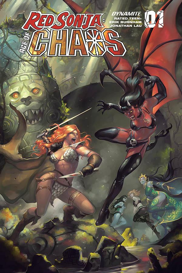 Red Sonja Age Of Chaos #1 Cover F Variant Meghan Hetrick Cover
