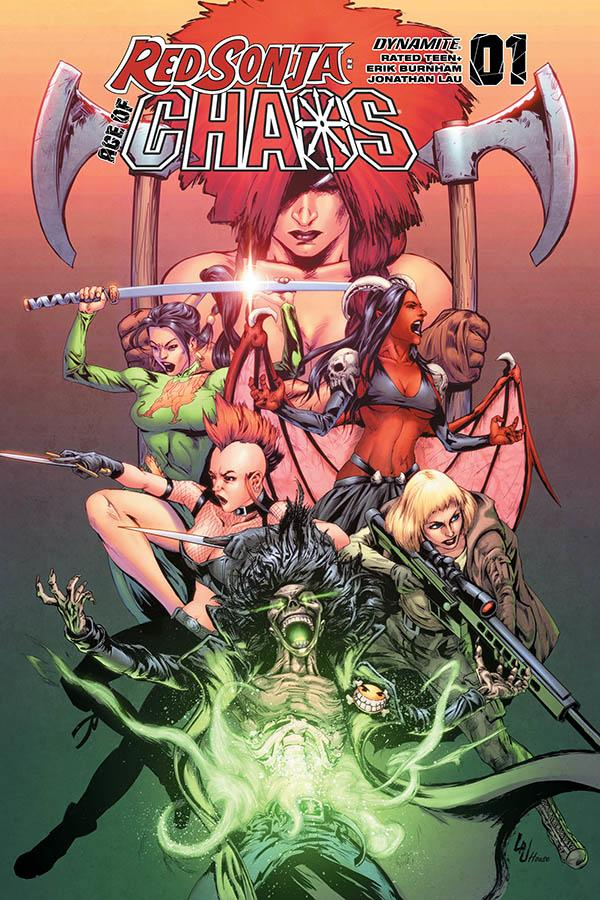 Red Sonja Age Of Chaos #1 Cover G Variant Jonathan Lau Cover