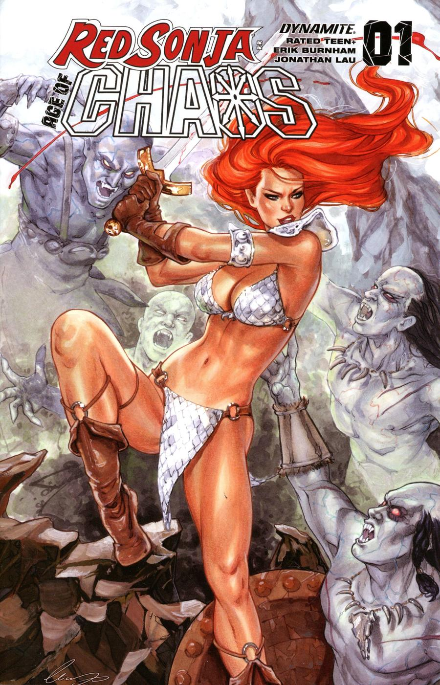 Red Sonja Age Of Chaos #1 Cover H Variant Elias Chatzoudis Cover