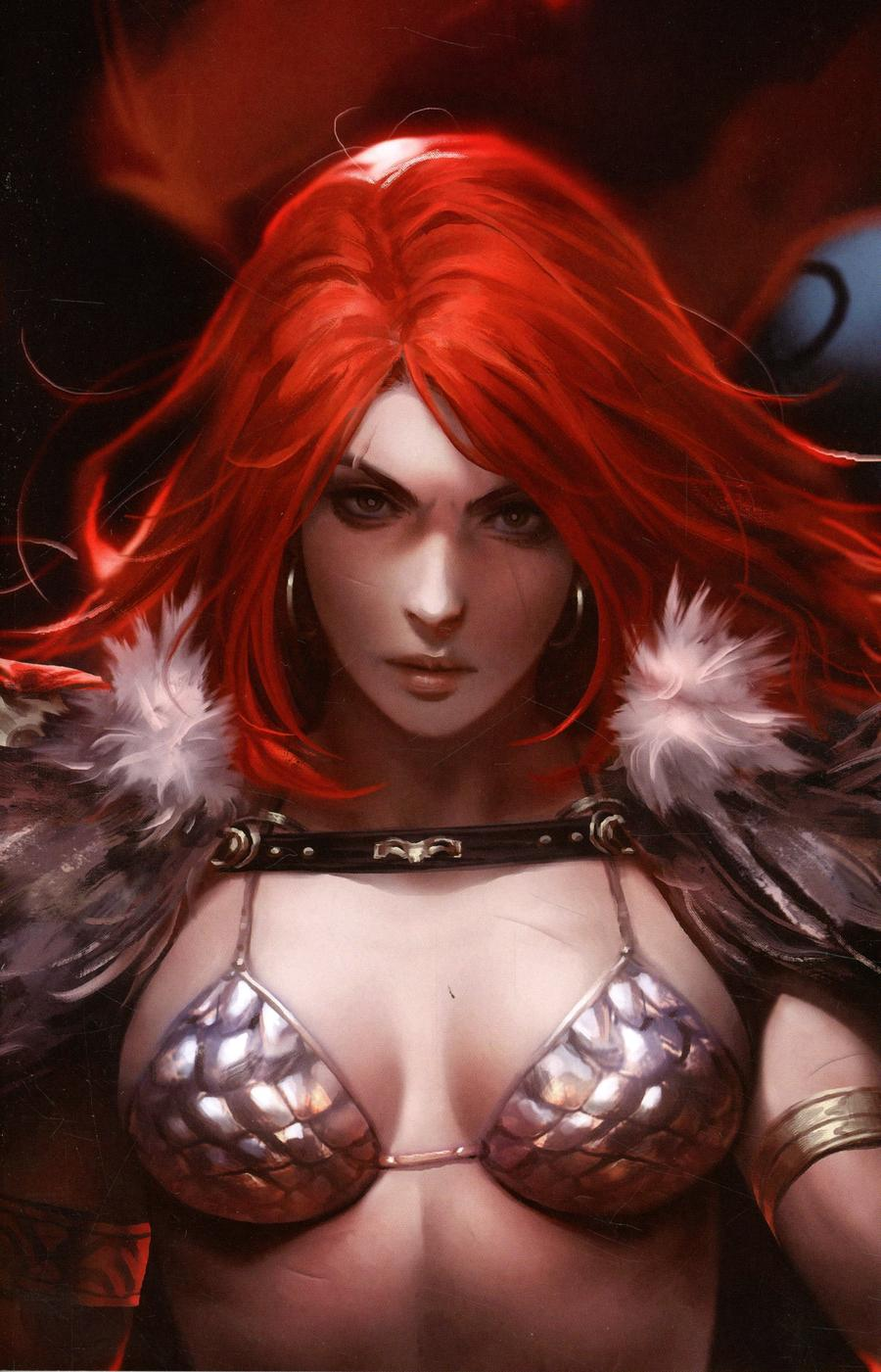 Red Sonja Age Of Chaos #1 Cover L Incentive Derrick Chew Sneak Peek Virgin Variant Cover