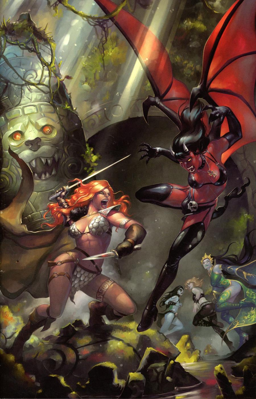 Red Sonja Age Of Chaos #1 Cover P Incentive Meghan Hetrick Virgin Cover