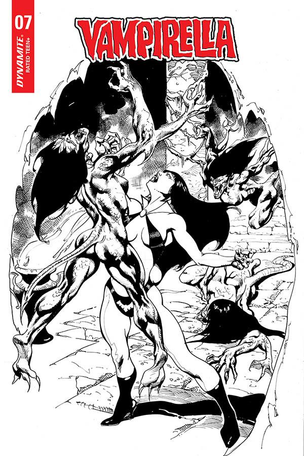 Vampirella Vol 8 #7 Cover G Incentive Roberto Castro Black & White Cover