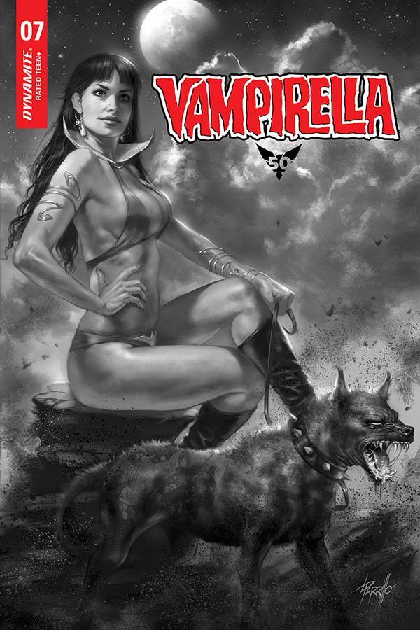 Vampirella Vol 8 #7 Cover I Incentive Lucio Parrillo Black & White Variant Cover