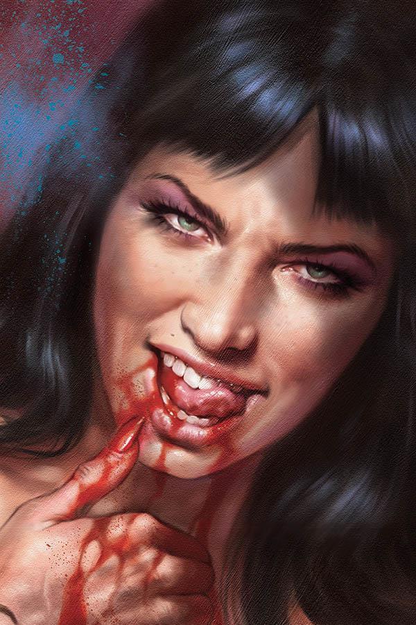Vampirella Vol 8 #7 Cover P Incentive Lucio Parrillo Sneak Peek Virgin Variant Cover