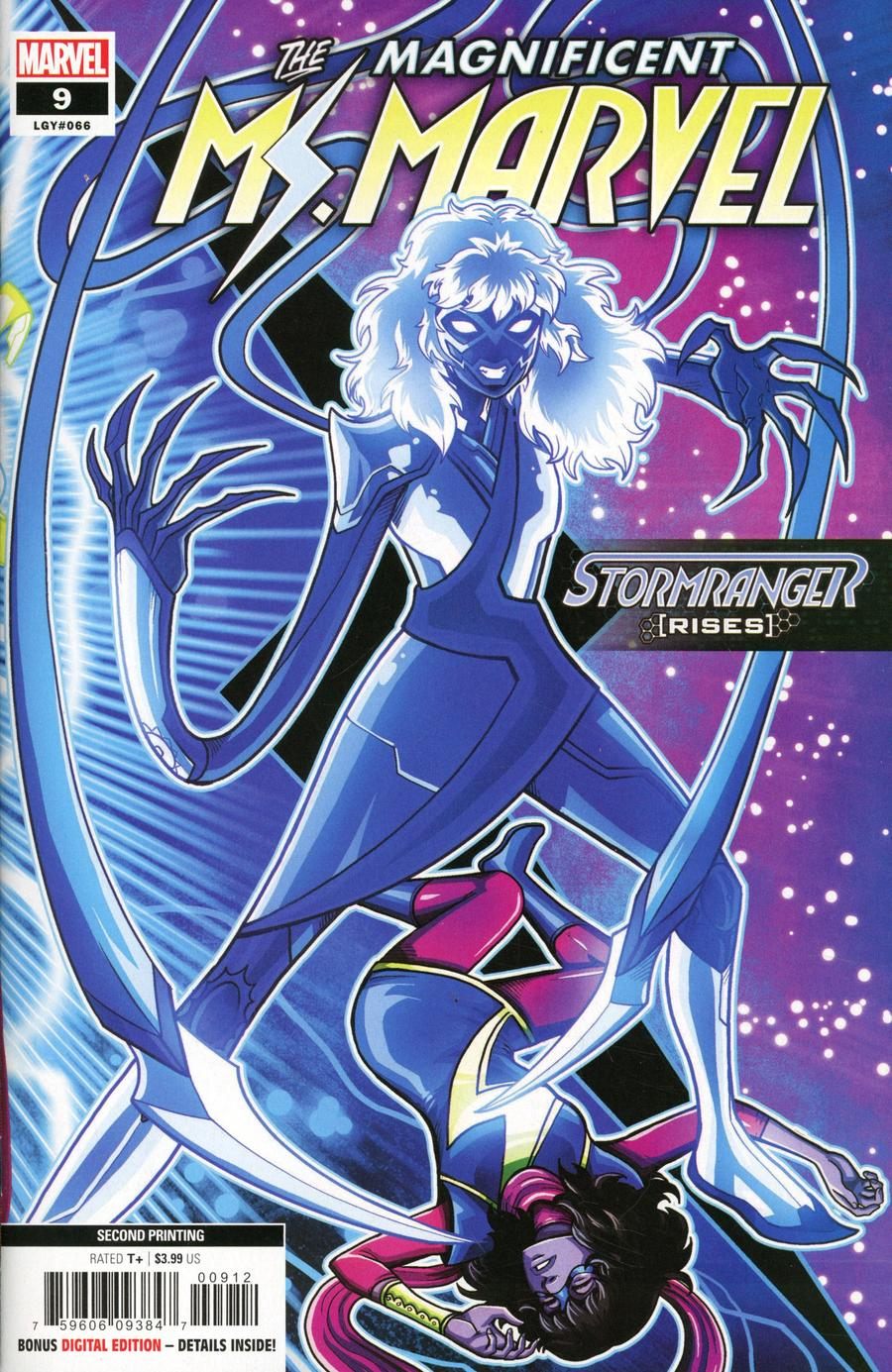 Magnificent Ms Marvel #9 Cover B 2nd Ptg Luciano Vecchio Variant Cover