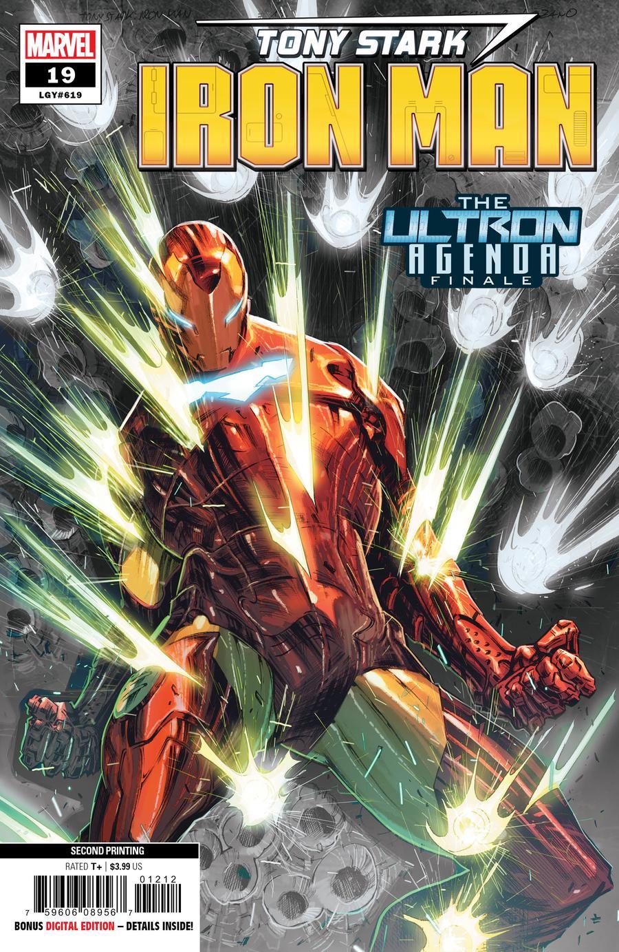 Tony Stark Iron Man #19 Cover D 2nd Ptg Alexander Lozano Variant Cover