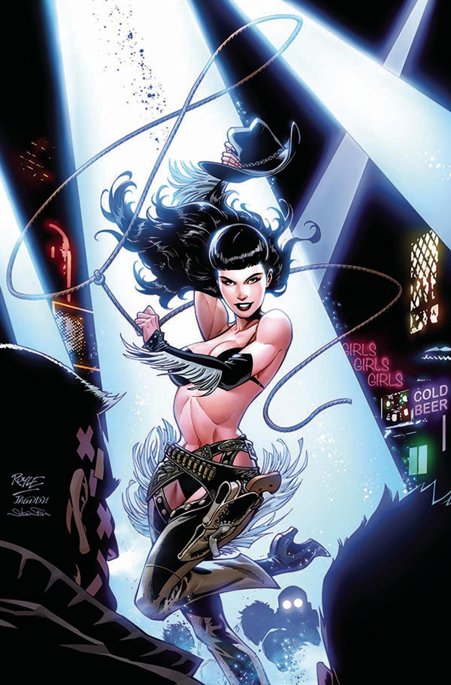Bettie Page Unbound #10 Cover K Incentive John Royle Color Virgin Variant Cover