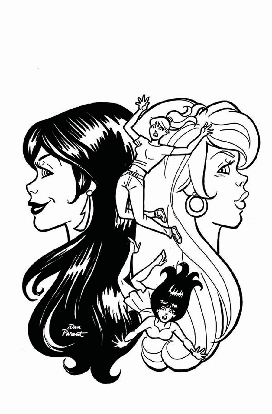 Red Sonja And Vampirella Meet Betty And Veronica #8 Cover H Incentive Dan Parent Virgin Black & White Cover