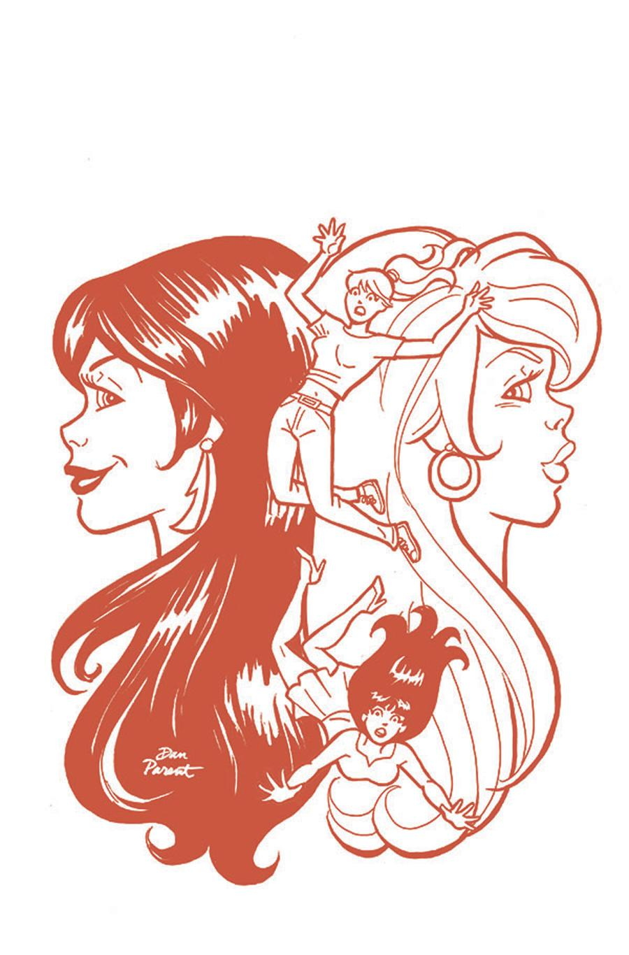 Red Sonja And Vampirella Meet Betty And Veronica #8 Cover I Incentive Dan Parent Virgin Red Tint Cover