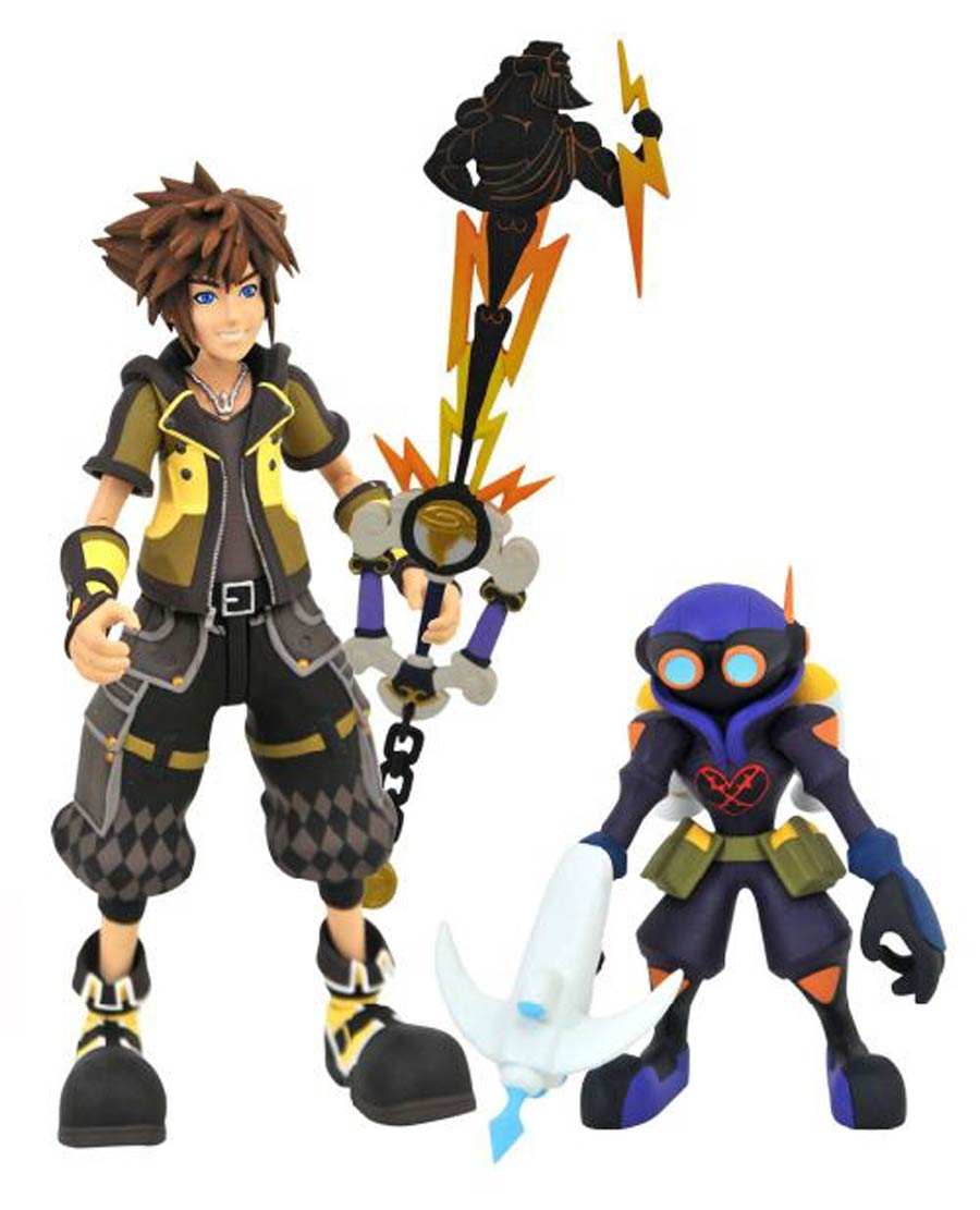Kingdom Hearts III Select Series 2 Action Figure - Guardian With Air Soldier & Heros Origin Keyblade