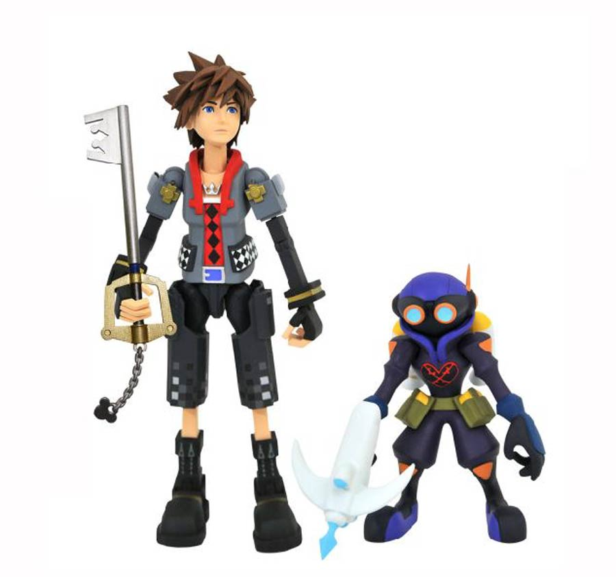 Kingdom Hearts III Select Series 2 Action Figure - Toy Story Sora With Air Soldier & Deputy Keyblade