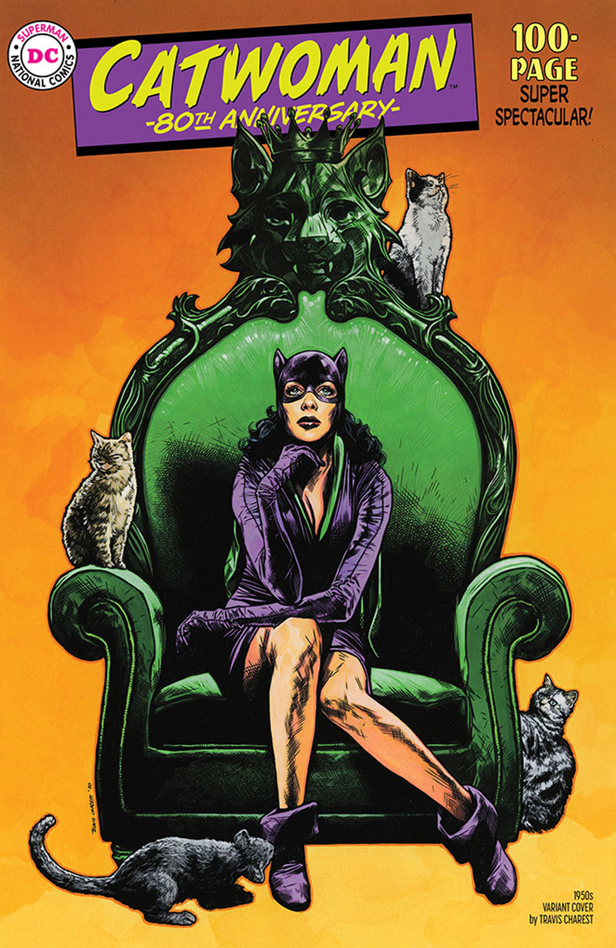 Catwoman 80th Anniversary 100-Page Super Spectacular #1 Cover C Variant Travis Charest 1950s Cover