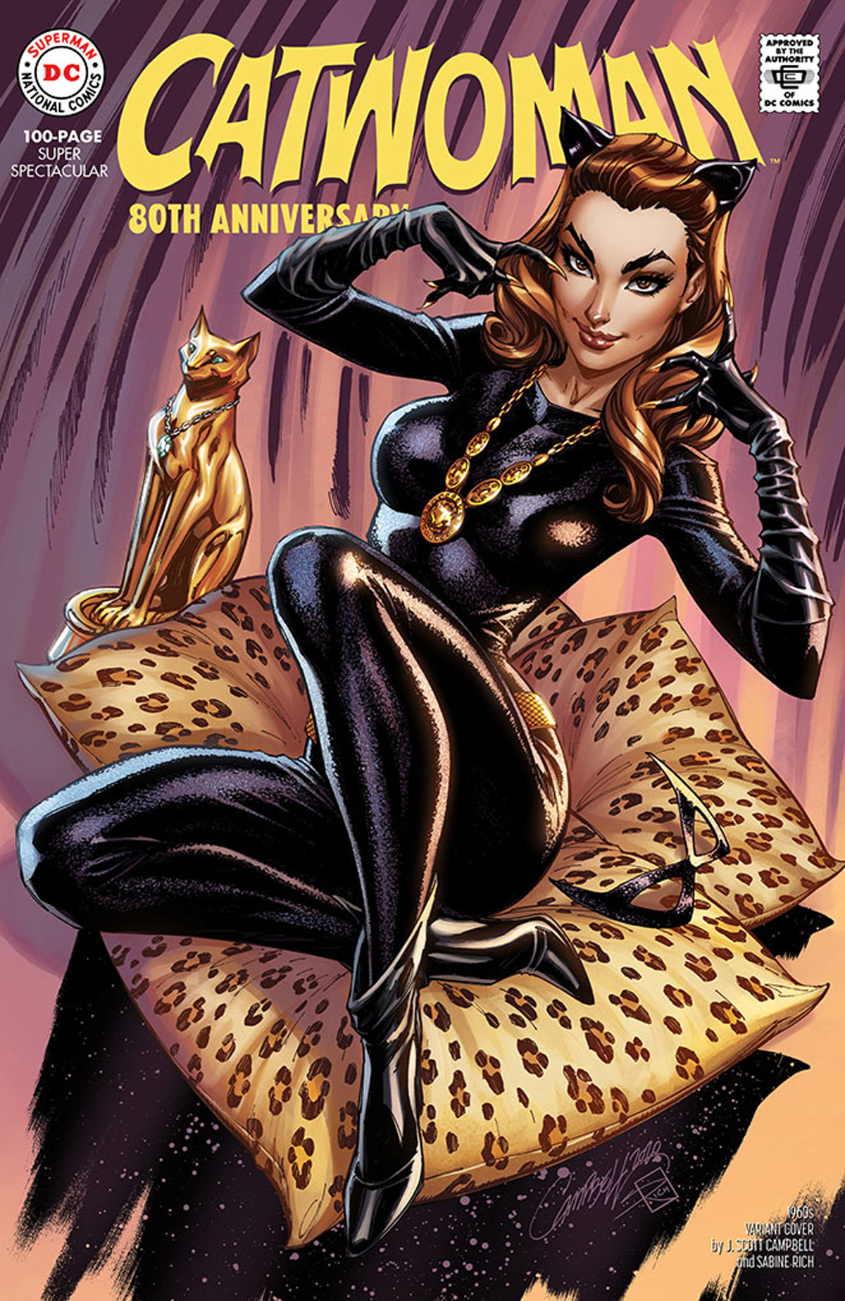 Catwoman 80th Anniversary 100-Page Super Spectacular #1 Cover D Variant J Scott Campbell 1960s Cover