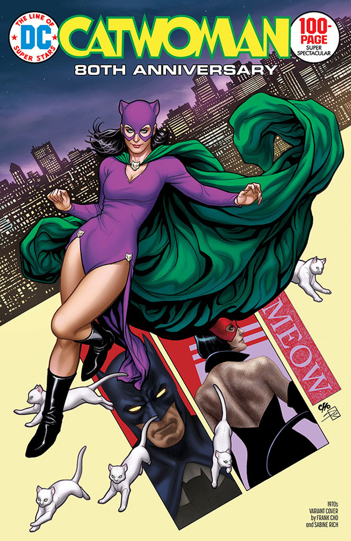 Catwoman 80th Anniversary 100-Page Super Spectacular #1 Cover E Variant Frank Cho 1970s Cover
