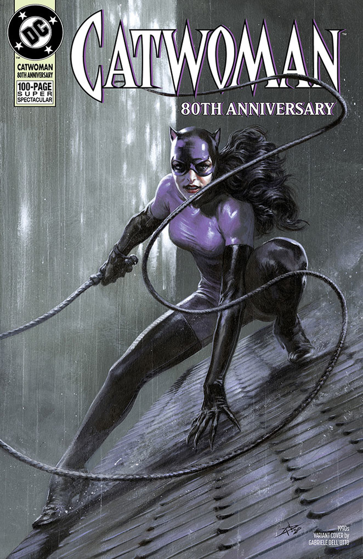 Catwoman 80th Anniversary 100-Page Super Spectacular #1 Cover G Variant Gabriele Dell Otto 1990s Cover