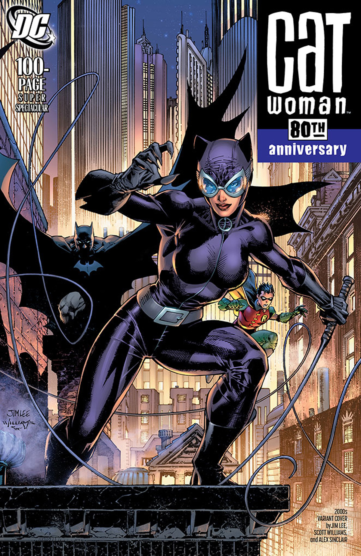 Catwoman 80th Anniversary 100-Page Super Spectacular #1 Cover H Variant Jim Lee & Scott Williams 2000s Cover