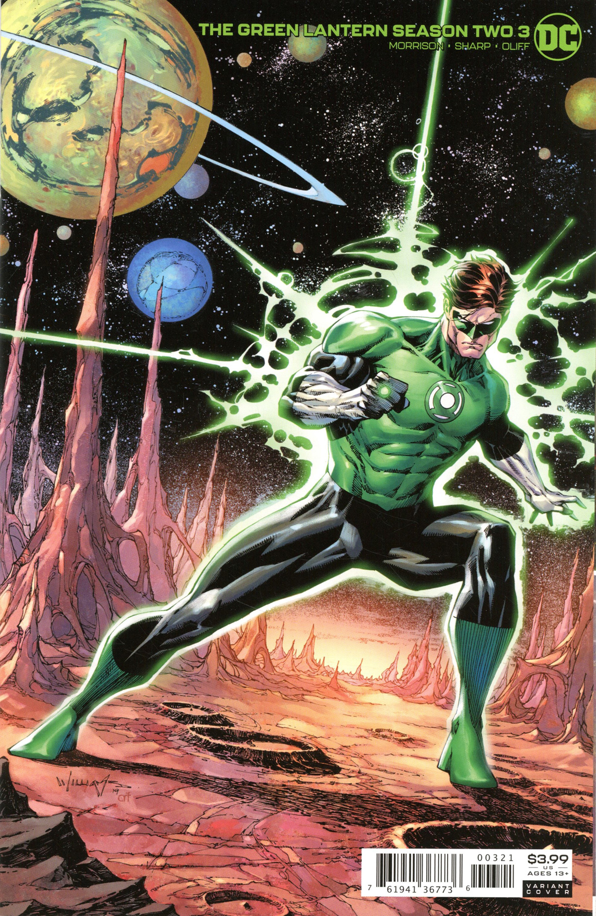 Green Lantern Vol 6 Season 2 #3 Cover B Variant Scott Wiliams Cover
