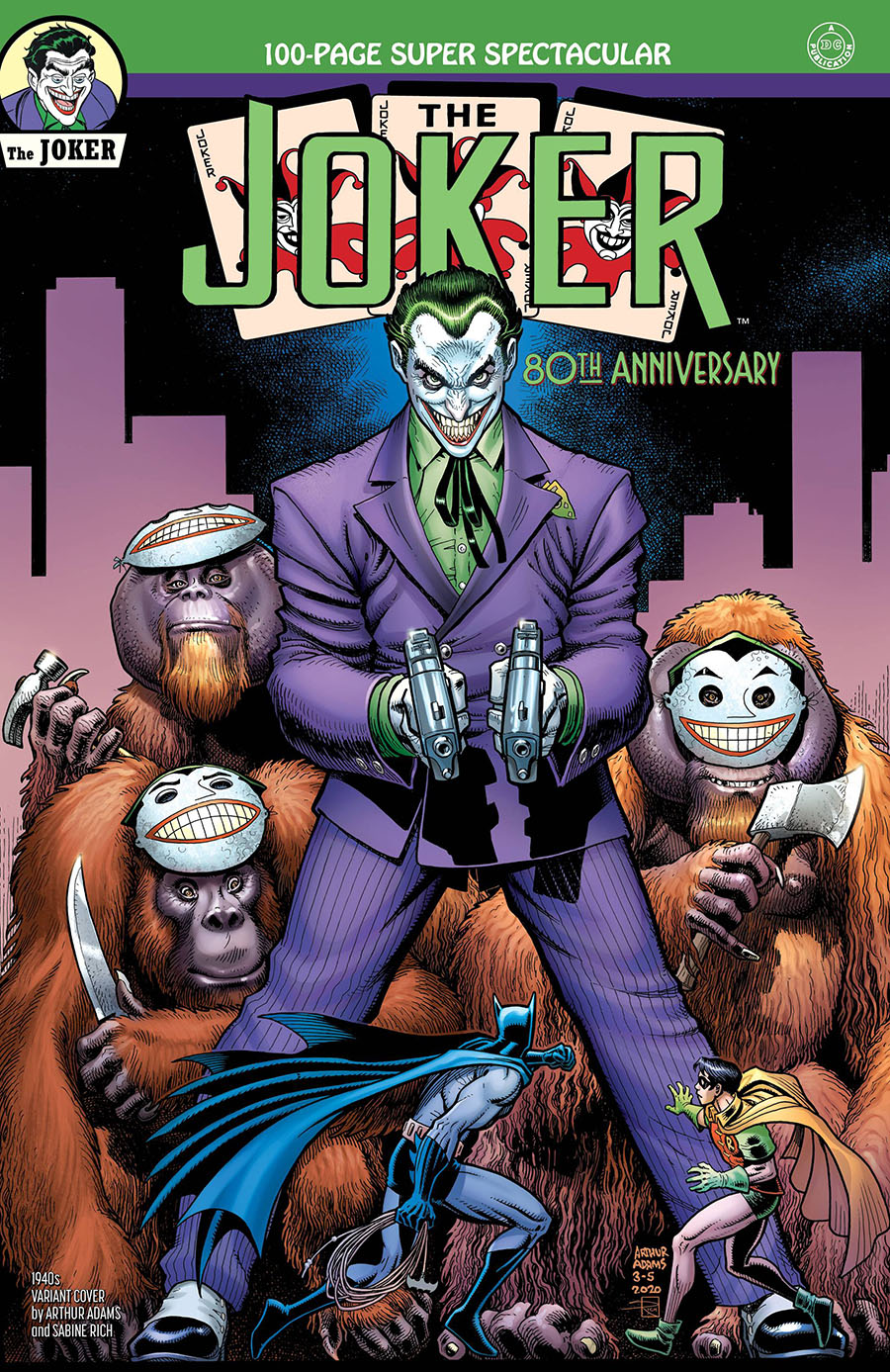 Joker 80th Anniversary 100-Page Super Spectacular #1 Cover B Variant Arthur Adams 1940s Cover