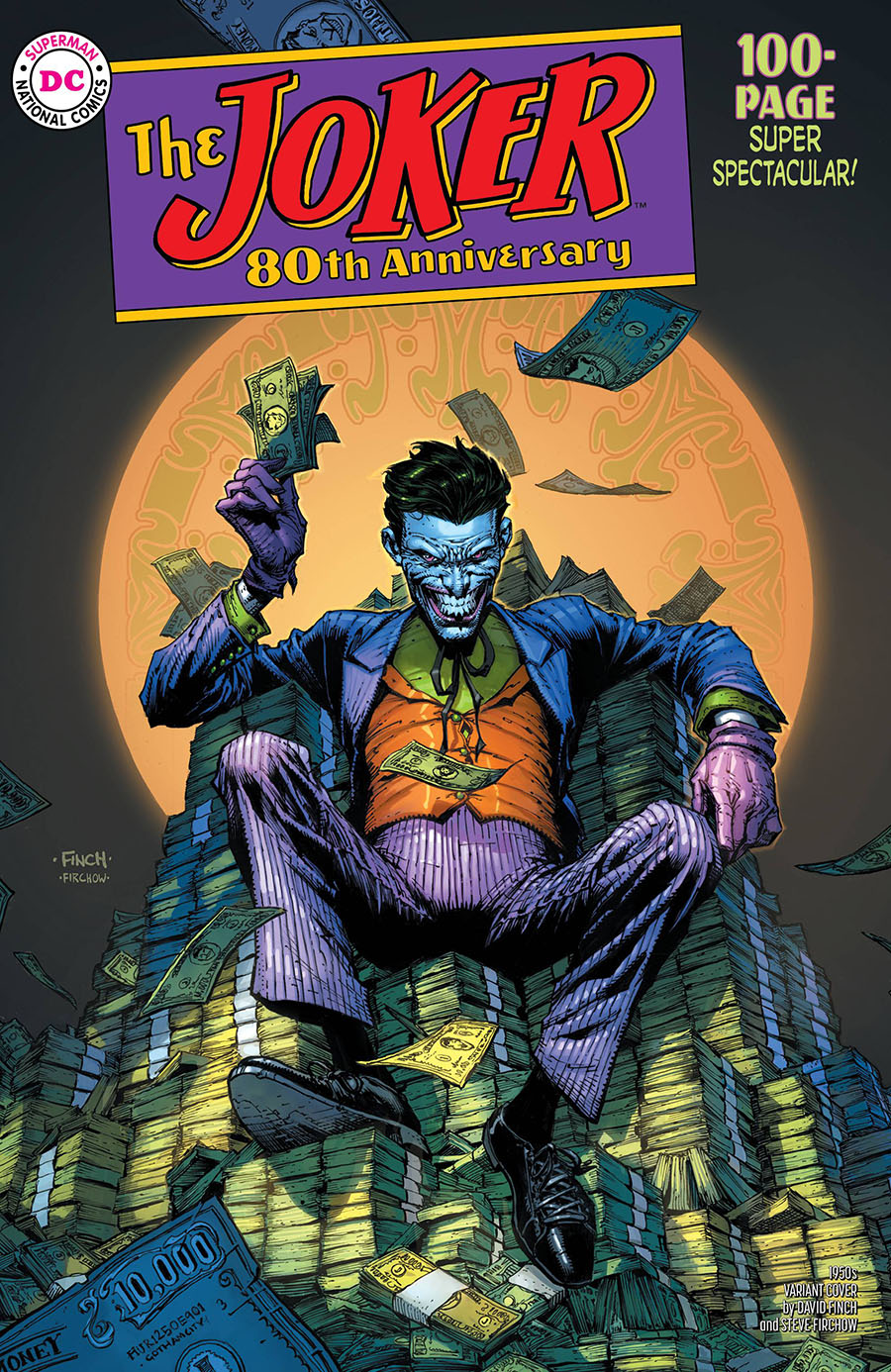 Joker 80th Anniversary 100-Page Super Spectacular #1 Cover C Variant David Finch 1950s Cover