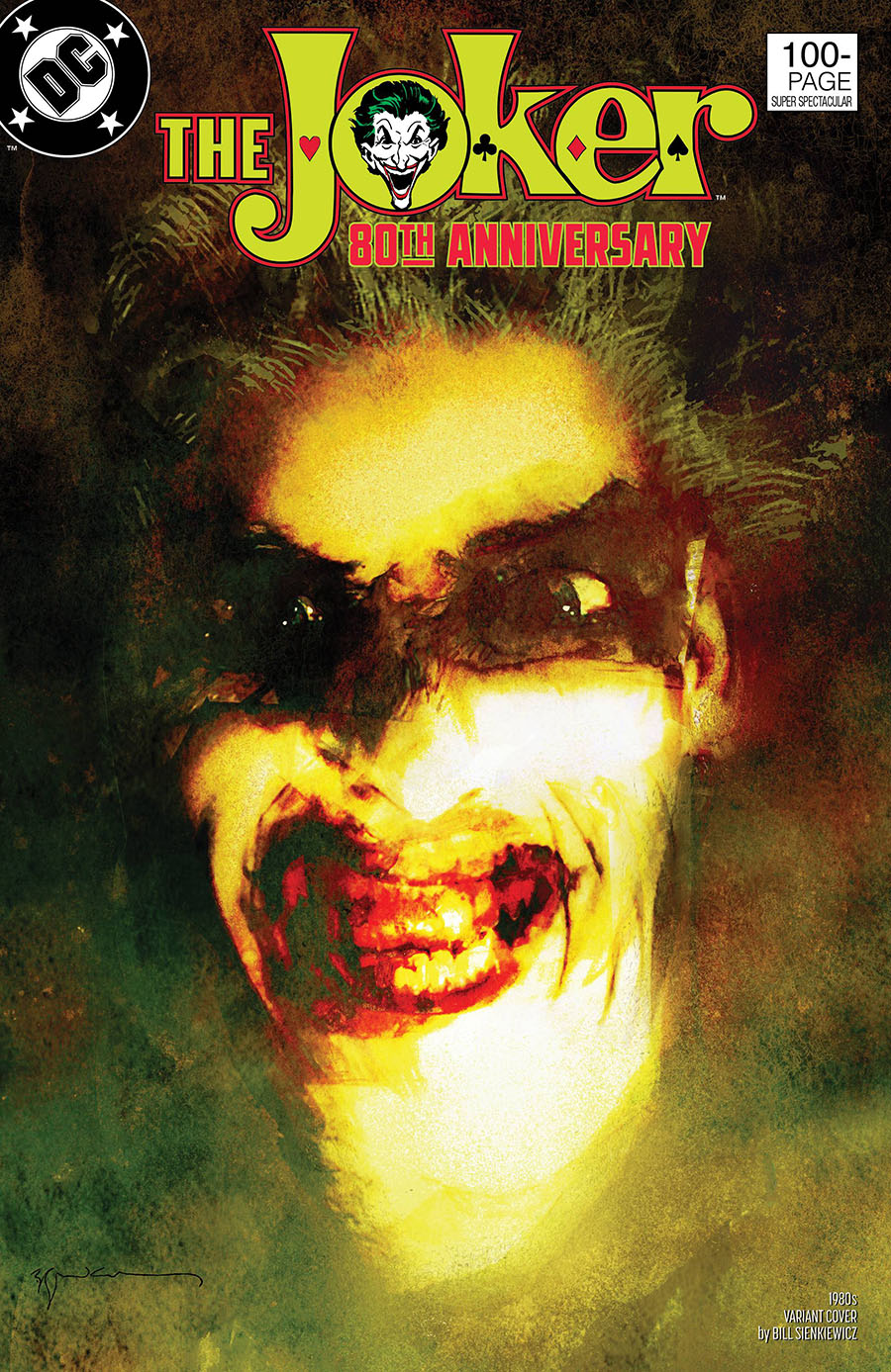 Joker 80th Anniversary 100-Page Super Spectacular #1 Cover F Variant Bill Sienkiewicz 1980s Cover