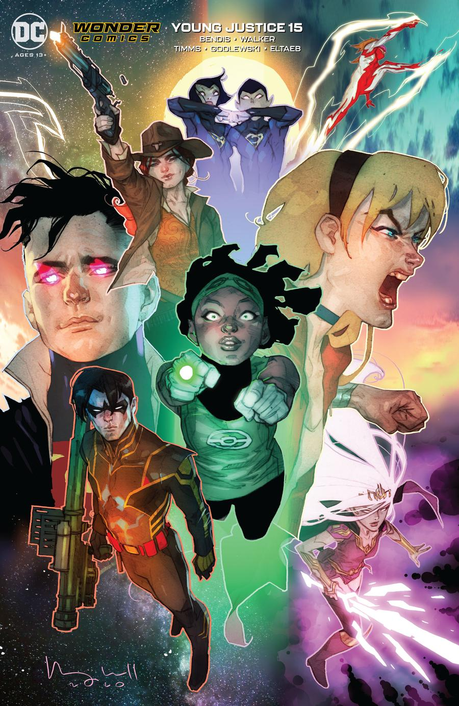 Young Justice Vol 3 #15 Cover B Variant Ben Caldwell Cover