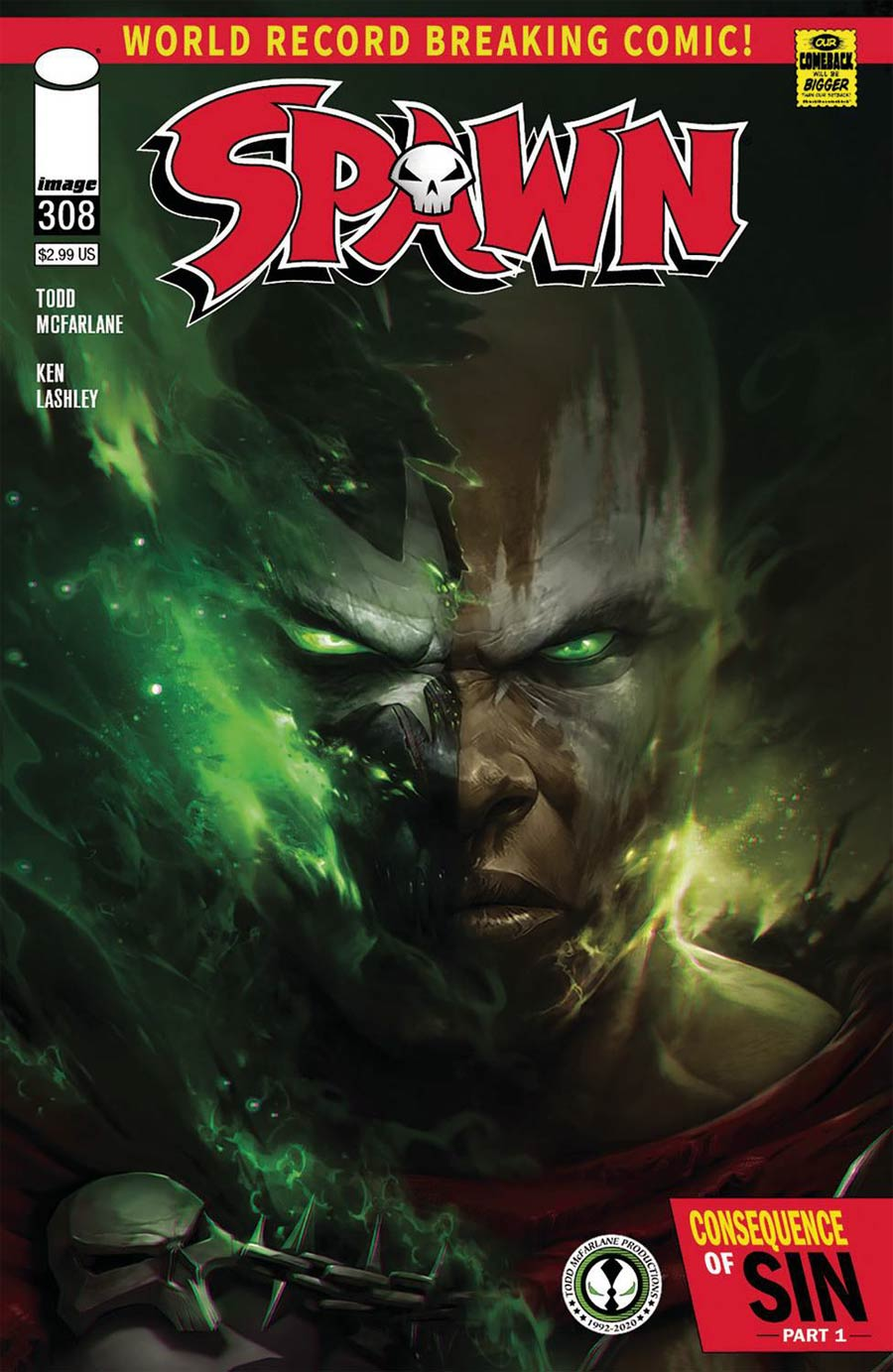 Spawn #308 Cover C Variant Francesco Mattina Cover (Limit 1 Per Customer)