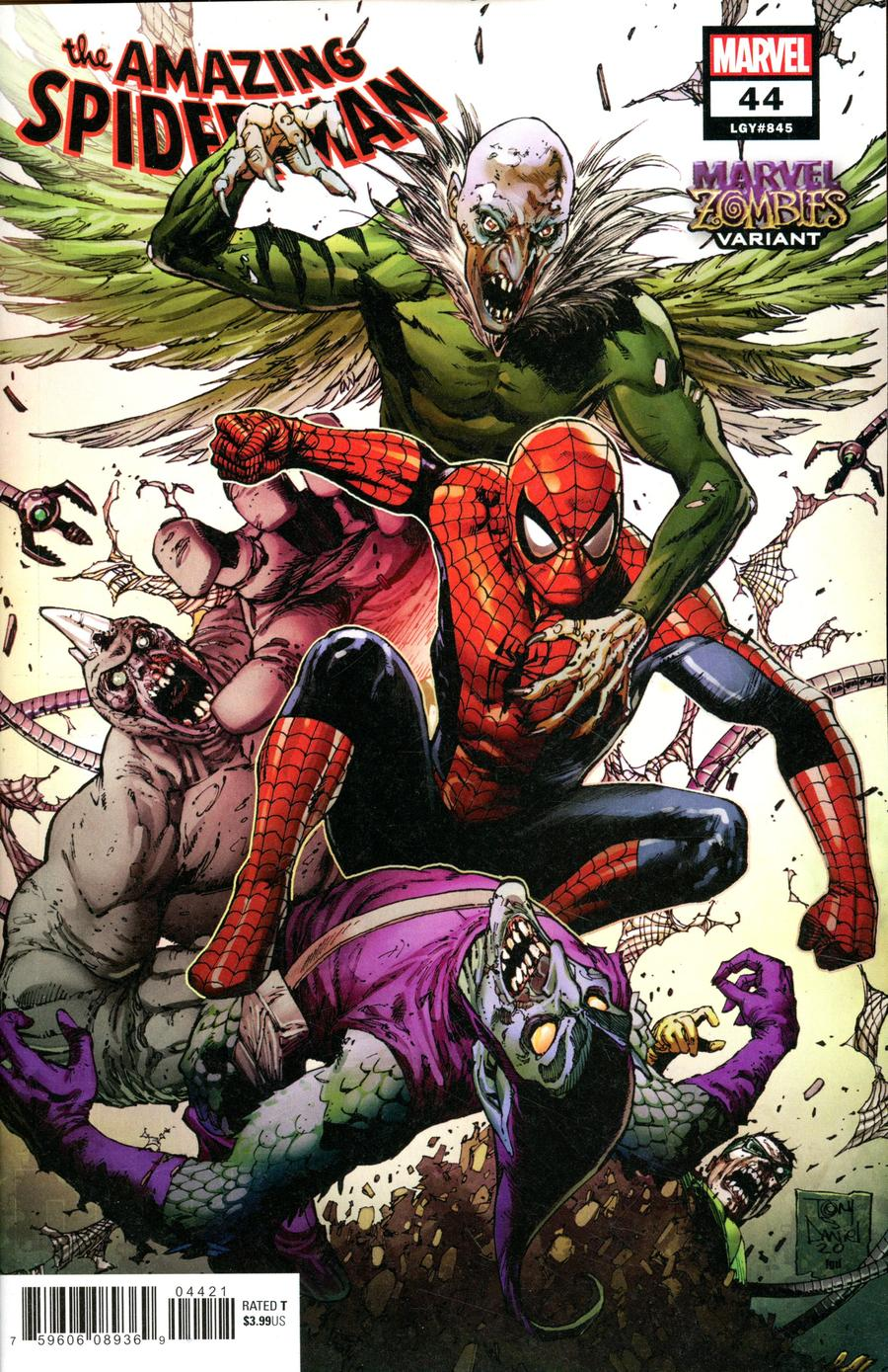 Amazing Spider-Man Vol 5 #44 Cover B Variant Tony S Daniel Marvel Zombies Cover