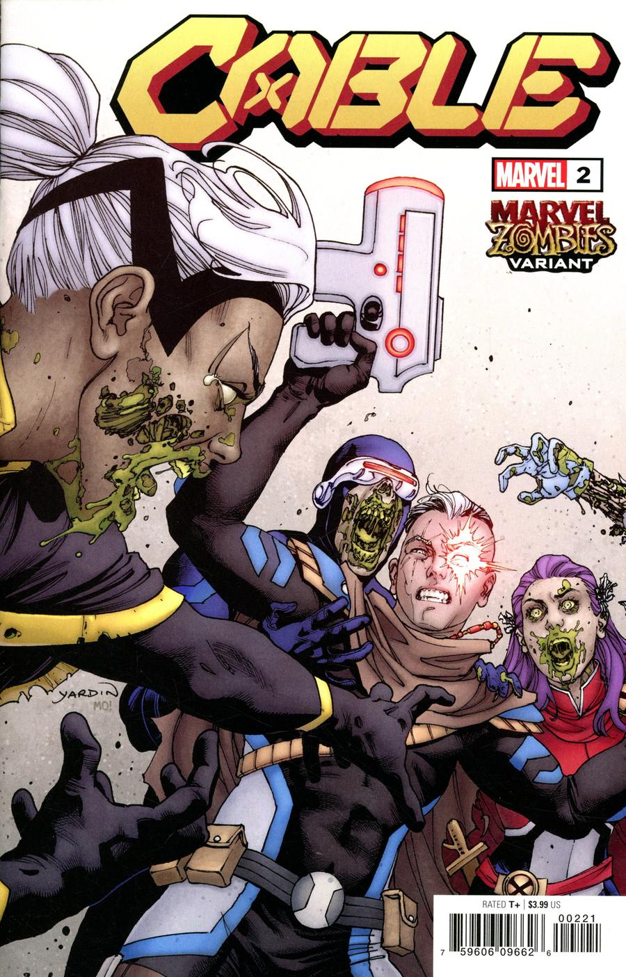 Cable Vol 4 #2 Cover B Variant David Yardin Marvel Zombies Cover