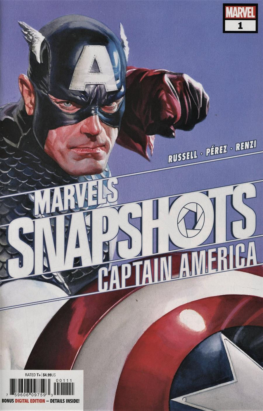 Captain America Marvels Snapshots #1 Cover A Regular Alex Ross Cover