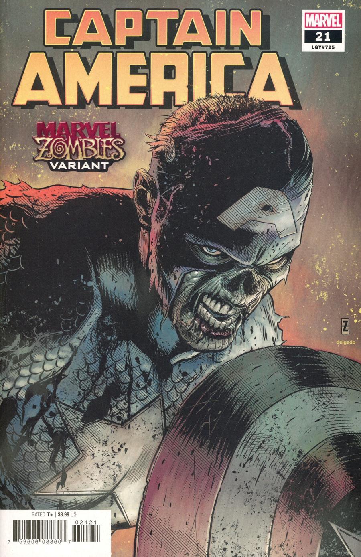 Captain America Vol 9 #21 Cover B Variant Patrick Zircher Marvel Zombies Cover
