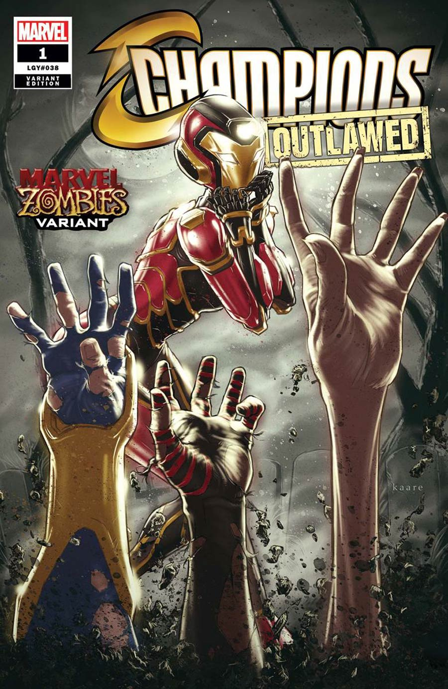 Champions (Marvel) Vol 4 #1 Cover B Variant Kaare Andrews Marvel Zombies Cover (Outlawed Tie-In)