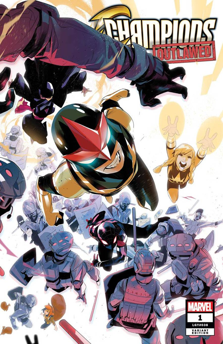 Champions (Marvel) Vol 4 #1 Cover C Variant Simone Di Meo Cover (Outlawed Tie-In)