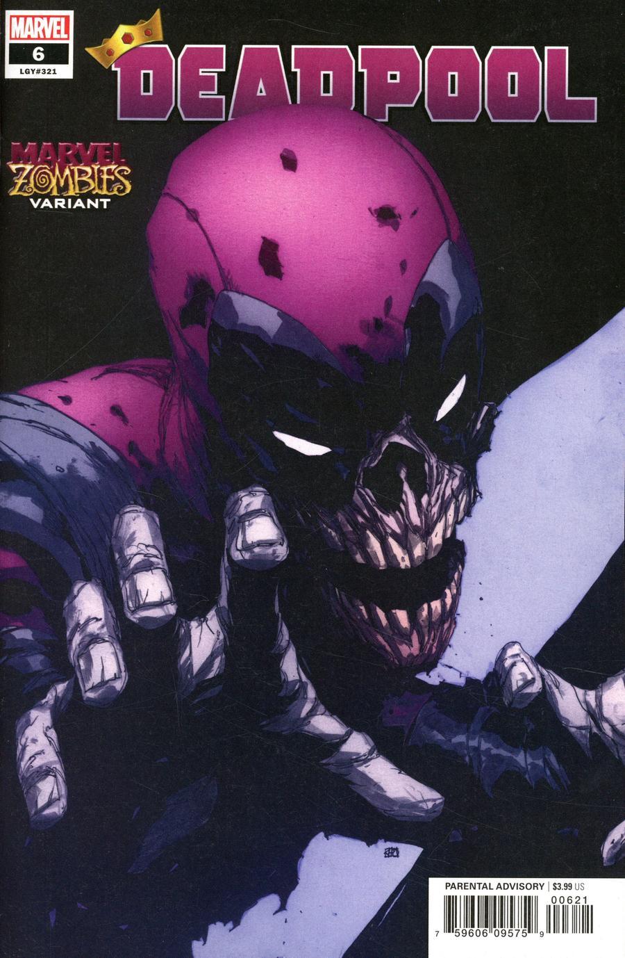 Deadpool Vol 7 #6 Cover B Variant Khoi Pham Marvel Zombies Cover