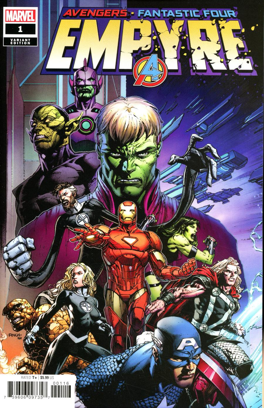 Empyre #1 Cover F Variant David Finch Cover