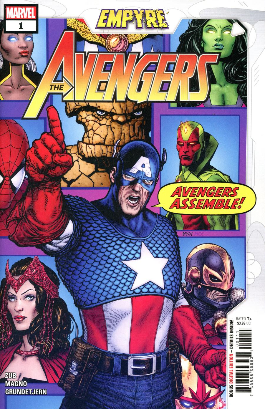 Empyre Avengers #1 Cover A Regular Steve McNiven Cover