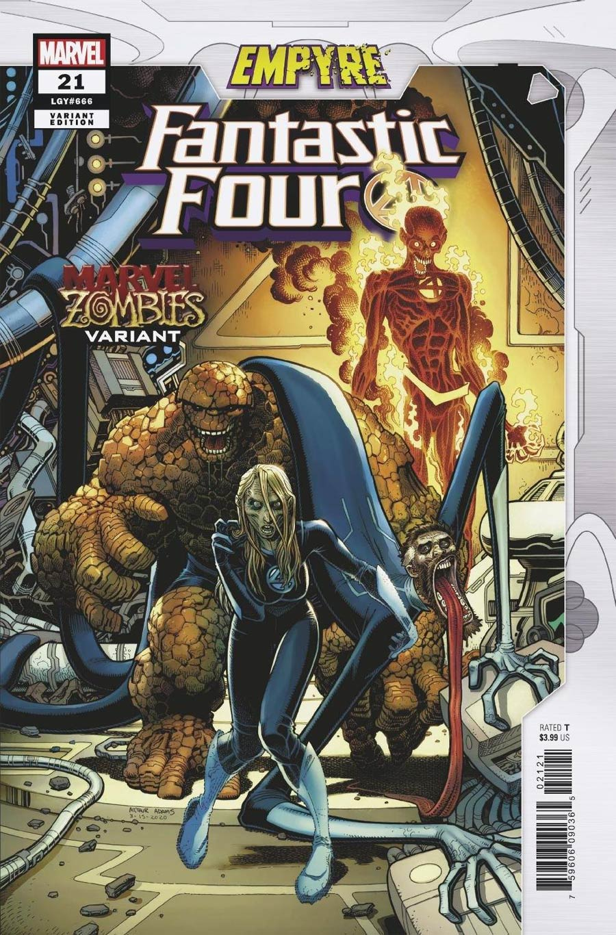 Fantastic Four Vol 6 #21 Cover B Variant Arthur Adams Marvel Zombies Cover (Empyre Tie-In)