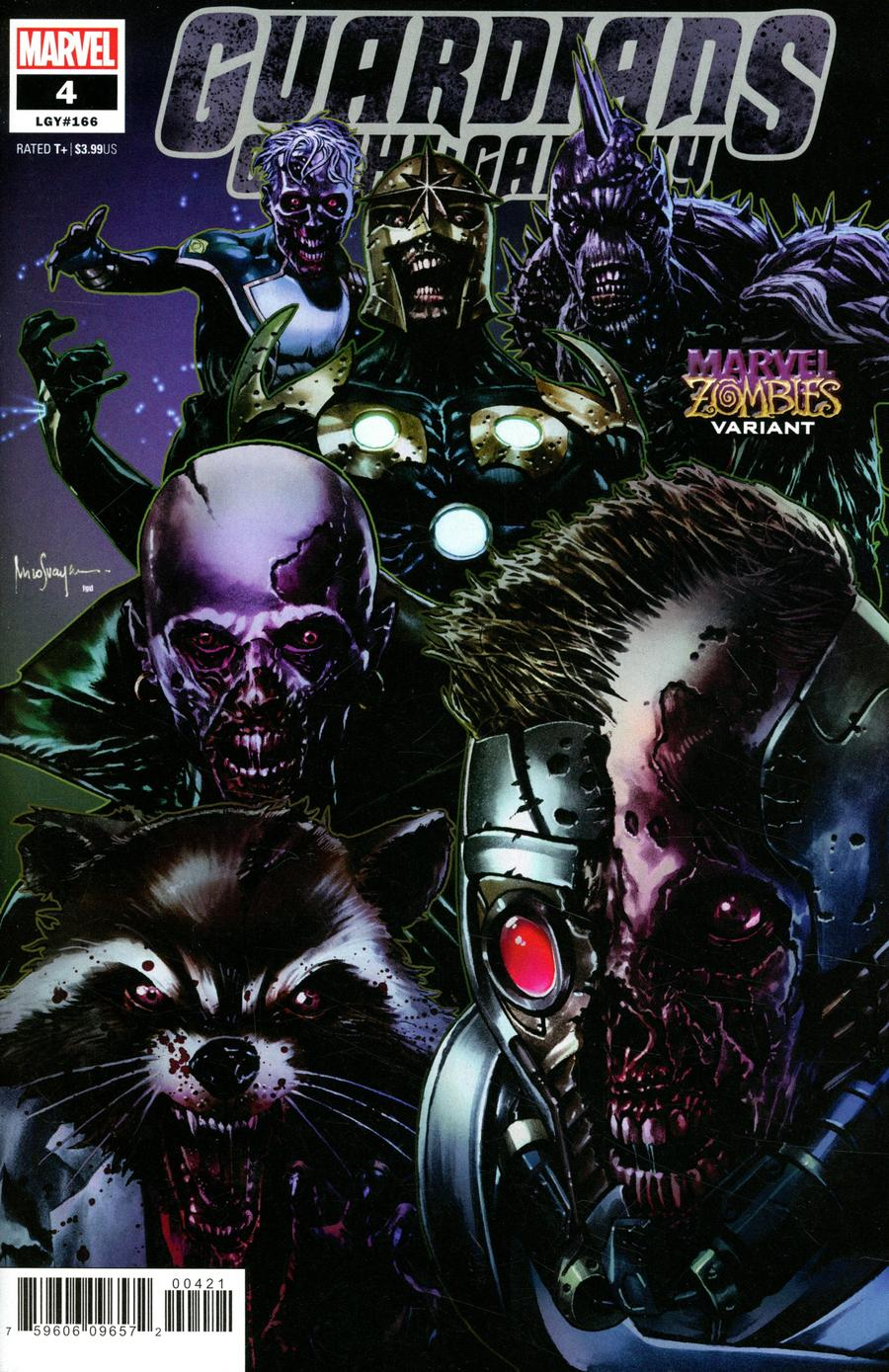 Guardians Of The Galaxy Vol 6 #4 Cover B Variant Mico Suayan Marvel Zombies Cover