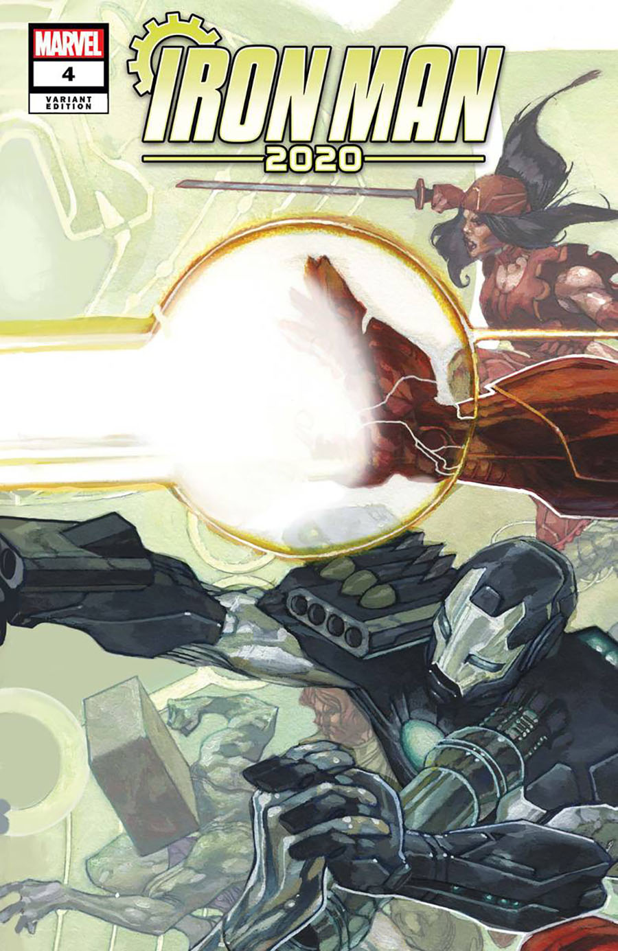 Iron Man 2020 #4 Cover C Variant Simone Bianchi Connecting Cover